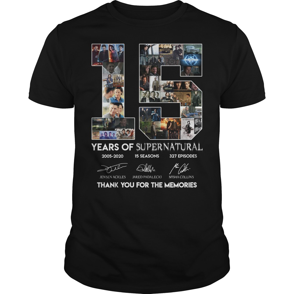 15 Years of Supernatural thank you for the memories classic men