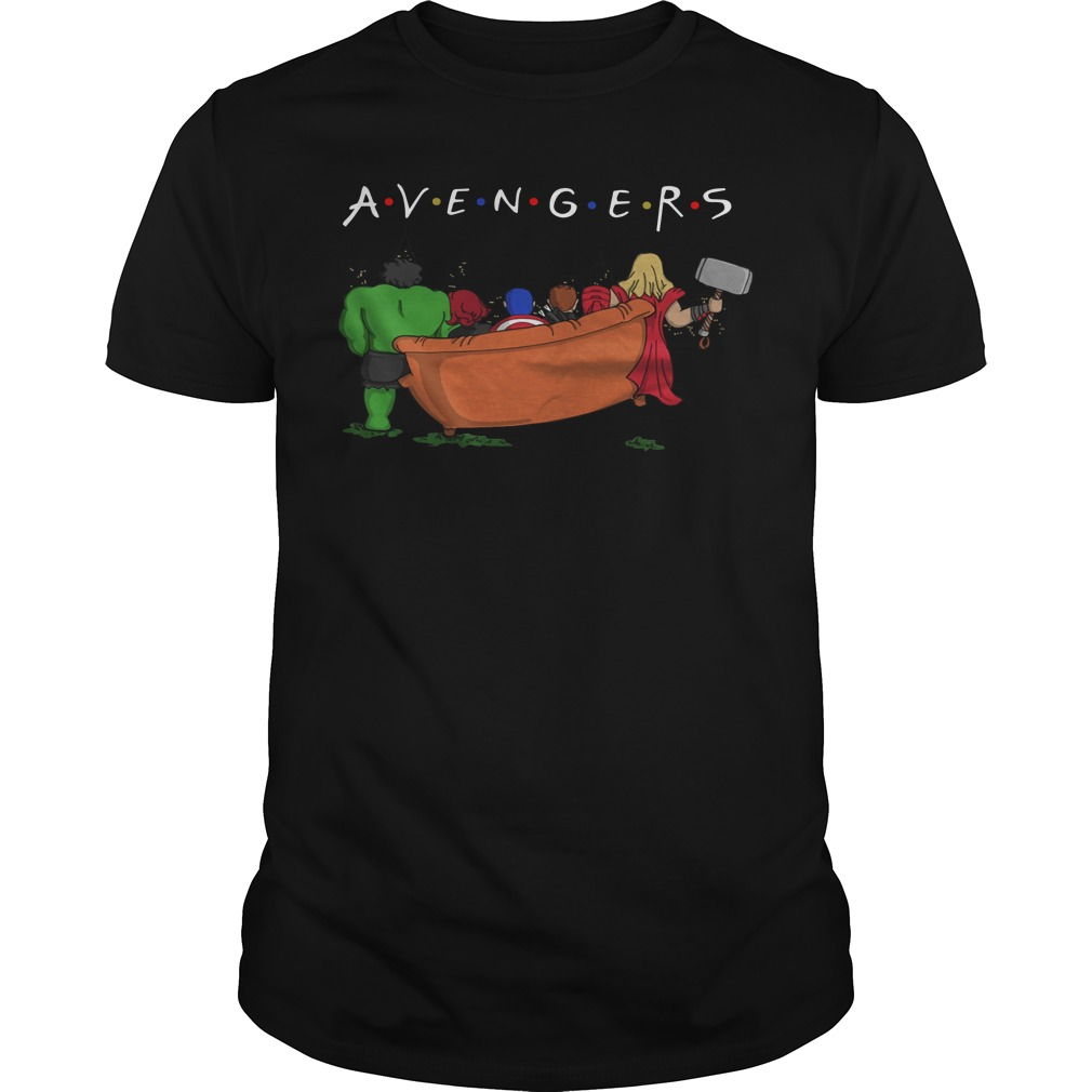 Avengers parody Friends tv show classic men