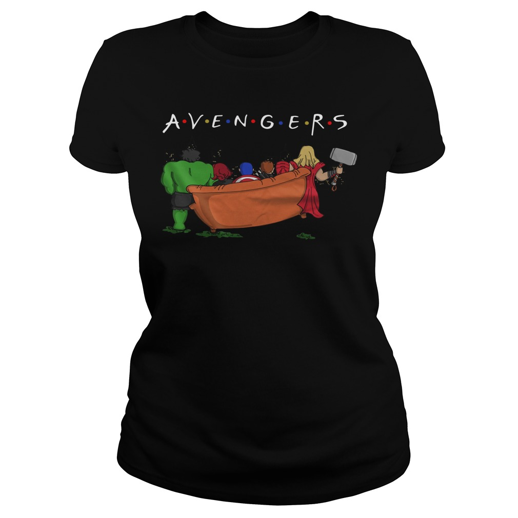 Avengers parody Friends tv show ladies tee