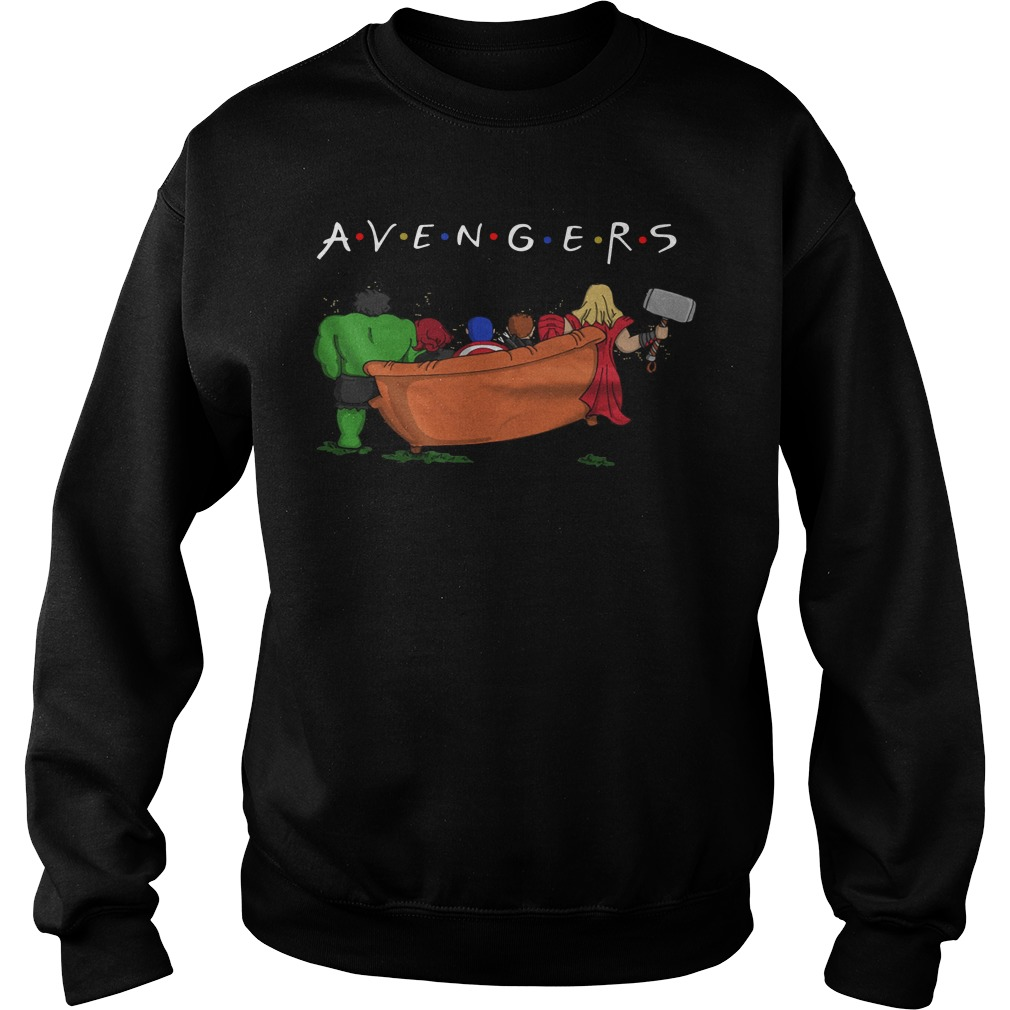 Avengers parody Friends tv show sweater