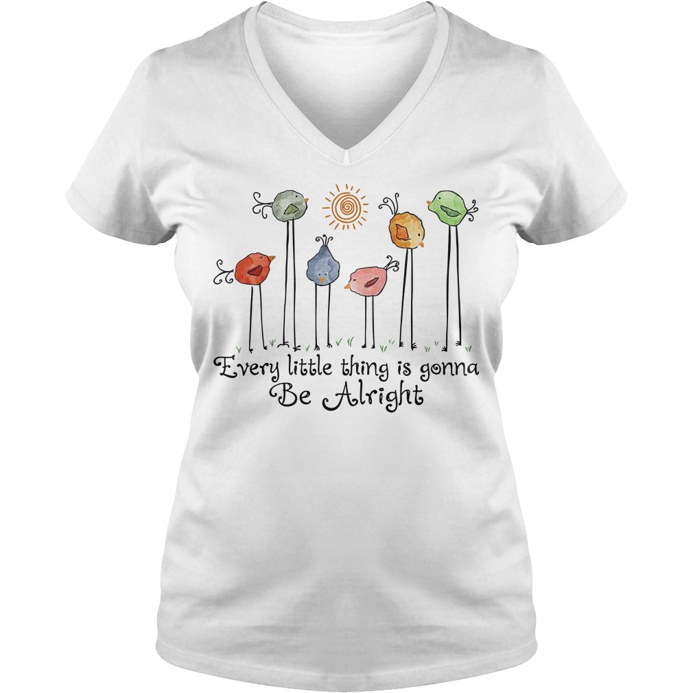 Every little thing is gonna be alright bird V-neck
