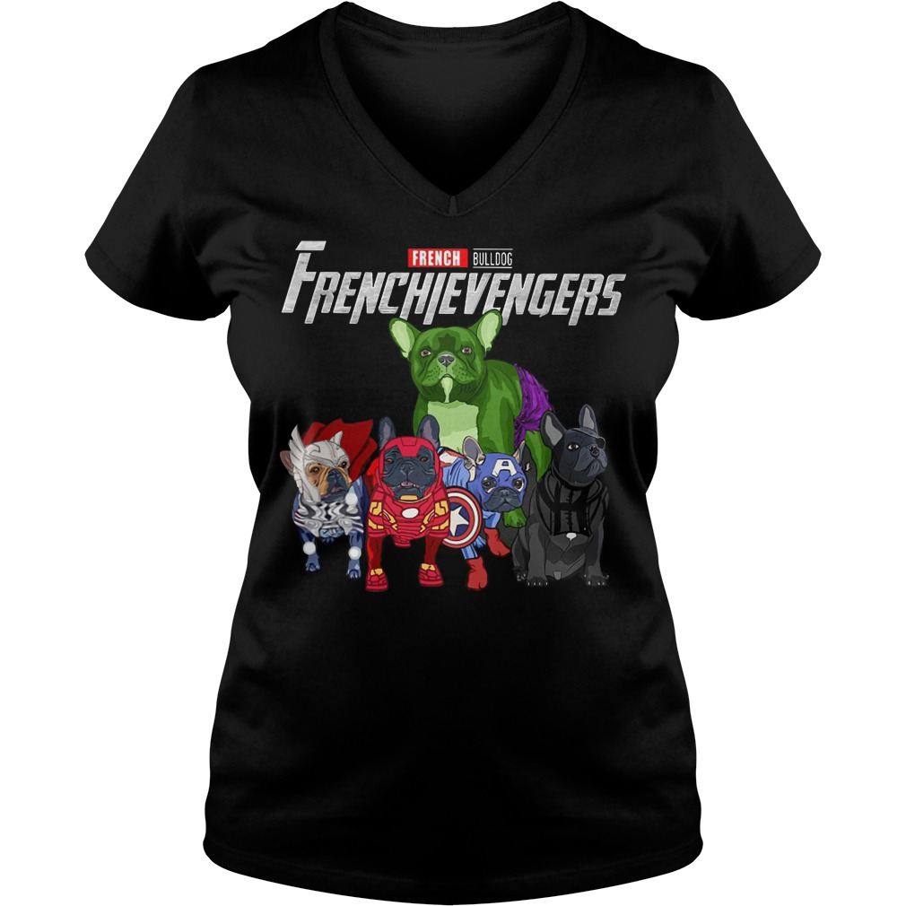 French Bulldog Frenchievengers V-neck