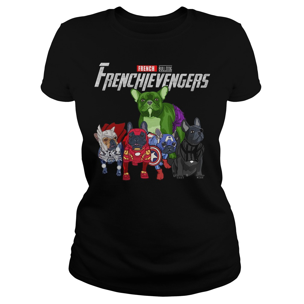 French Bulldog Frenchievengers ladies tee