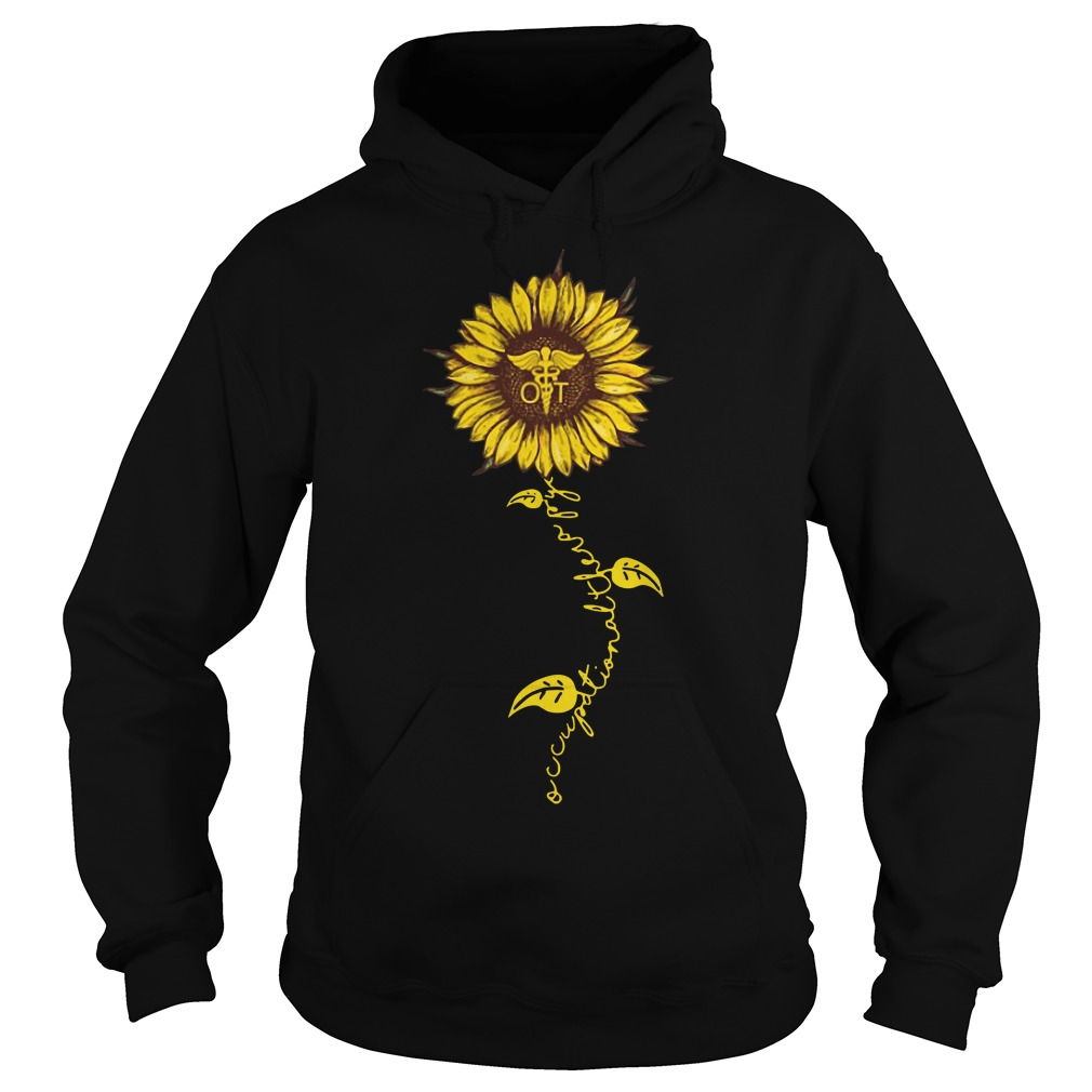 Occupational therapy nurse sunflower hoodie