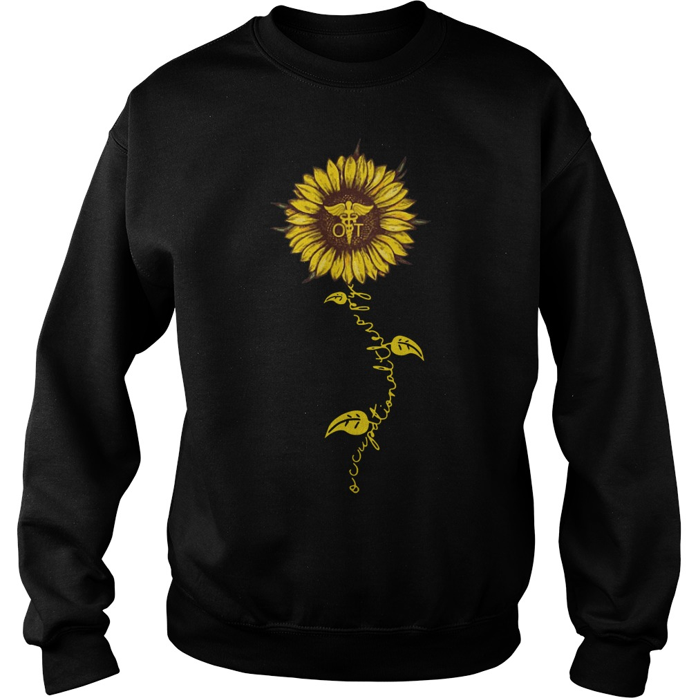 Occupational therapy nurse sunflower sweater