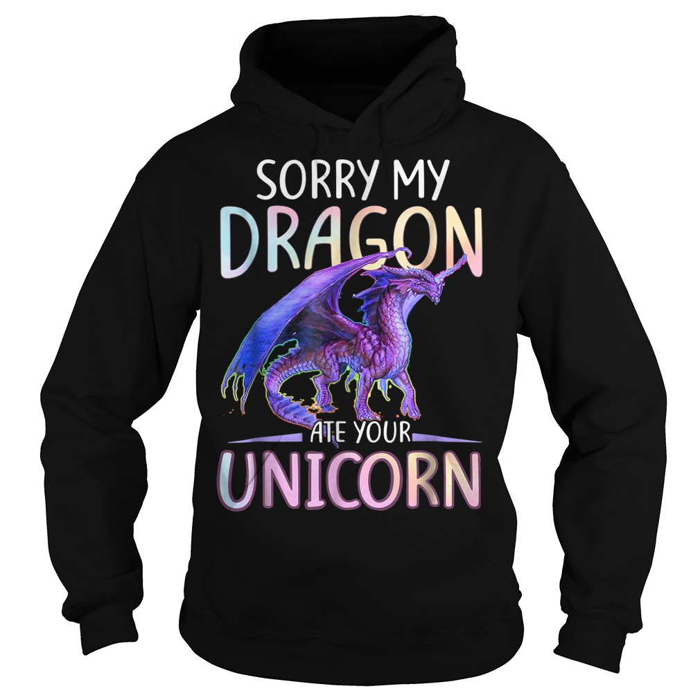 Sorry My Dragon Ate Your Unicorn Funny hoodie