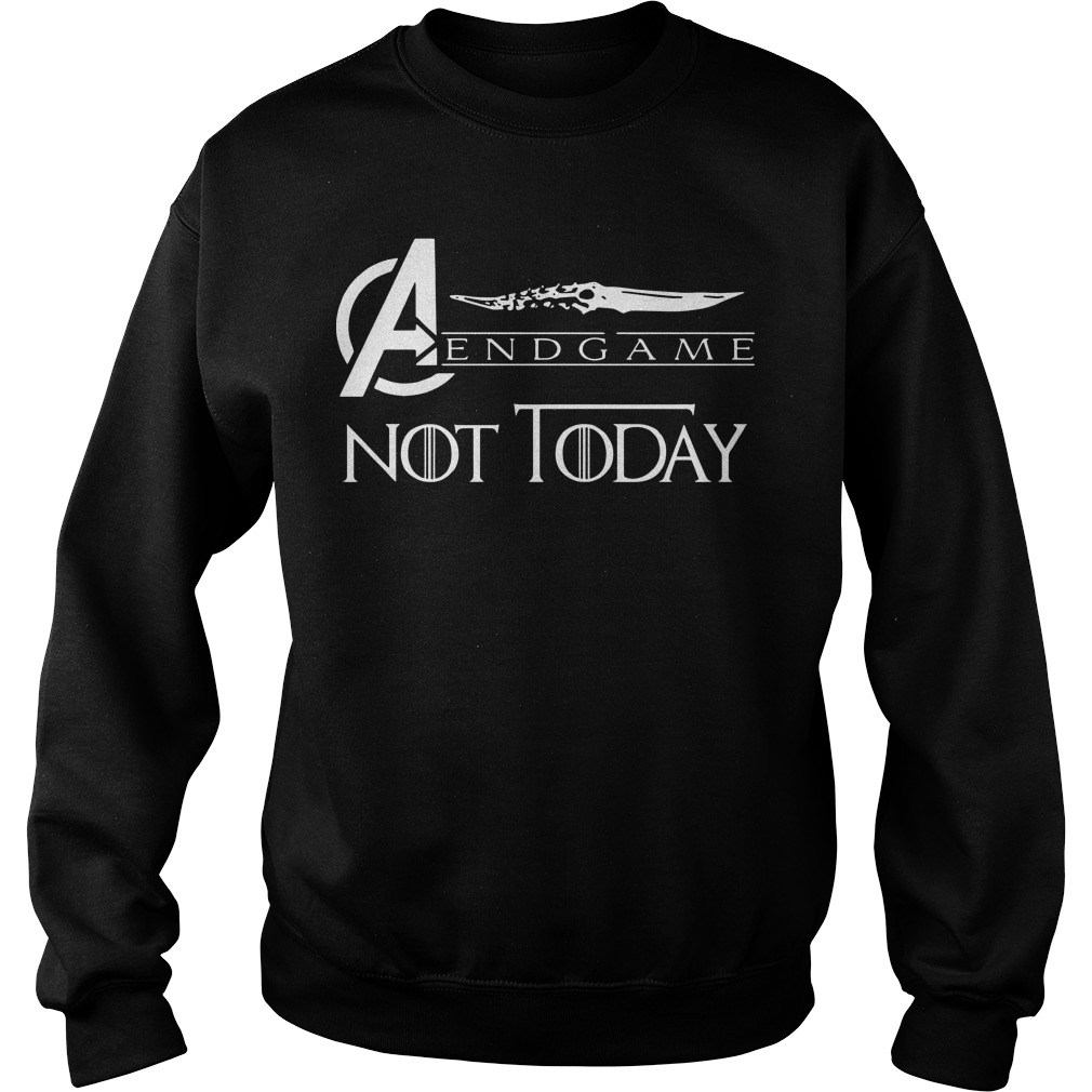 Avengers endgame not today sweater