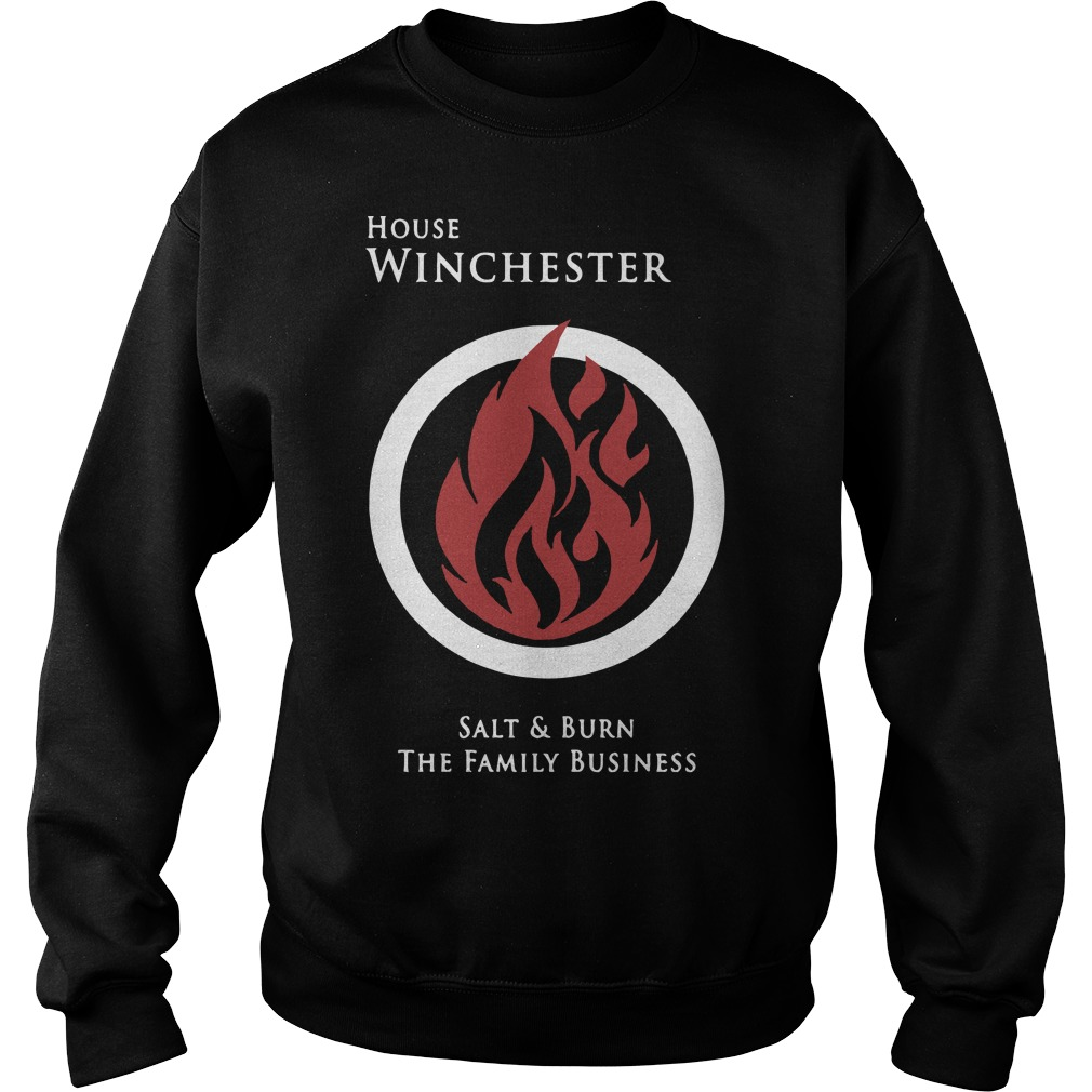 House Winchester salt and burn the family business sweater