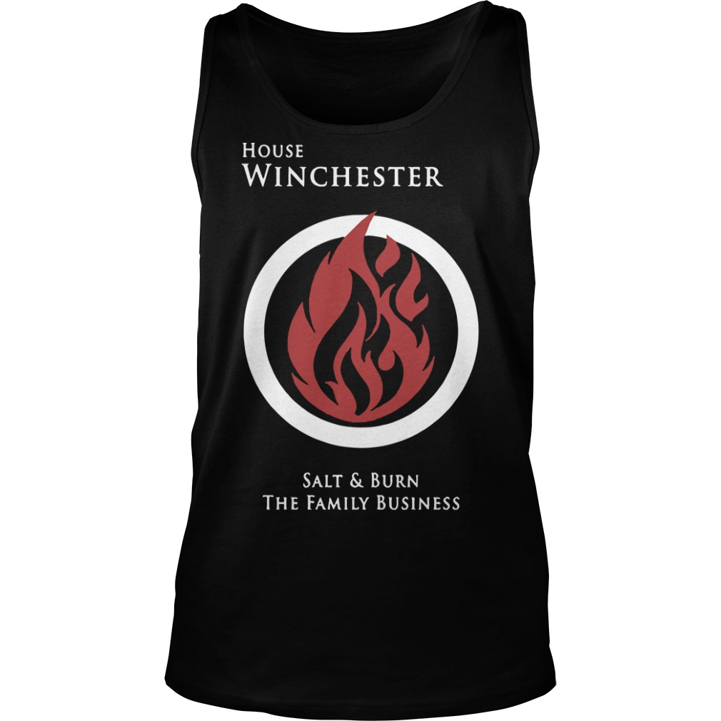 House Winchester salt and burn the family business tank top