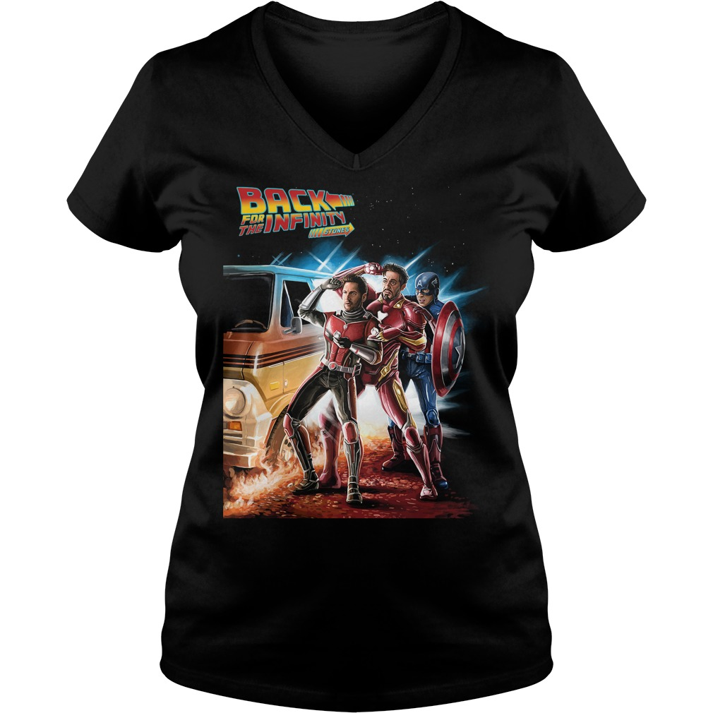 Avengers back for the infinity stones Ant Man Iron Man and Captain America V-neck