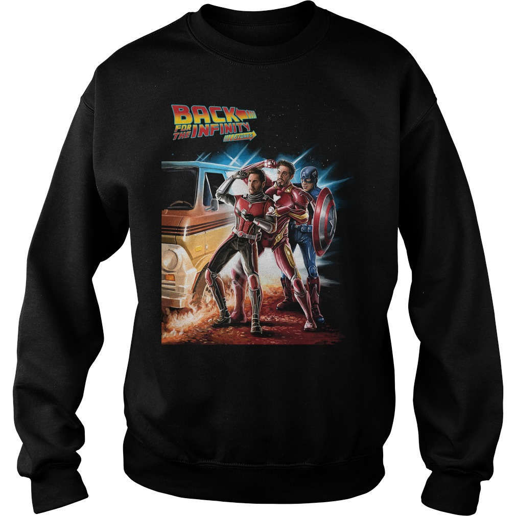 Avengers back for the infinity stones Ant Man Iron Man and Captain America sweater