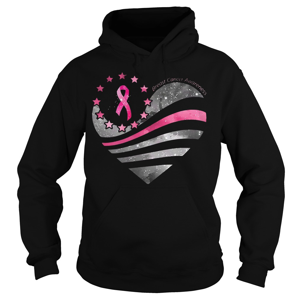 Breast Cancer Awareness Heart Moon hoodie