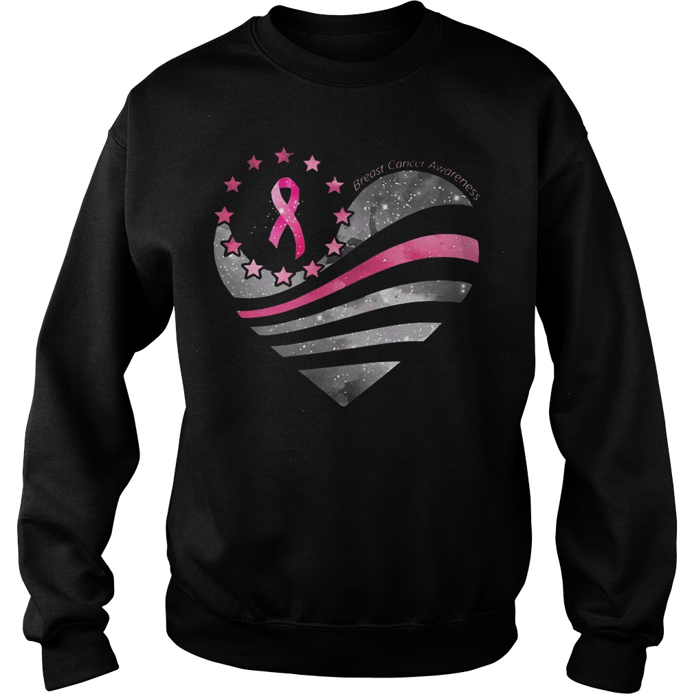 Breast Cancer Awareness Heart Moon sweater