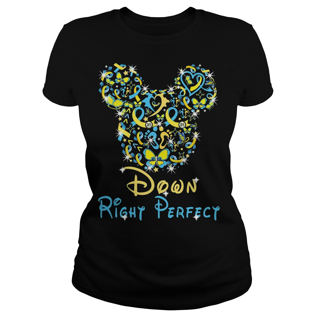 Disney Mickey Mouse down right perfect ladies tee