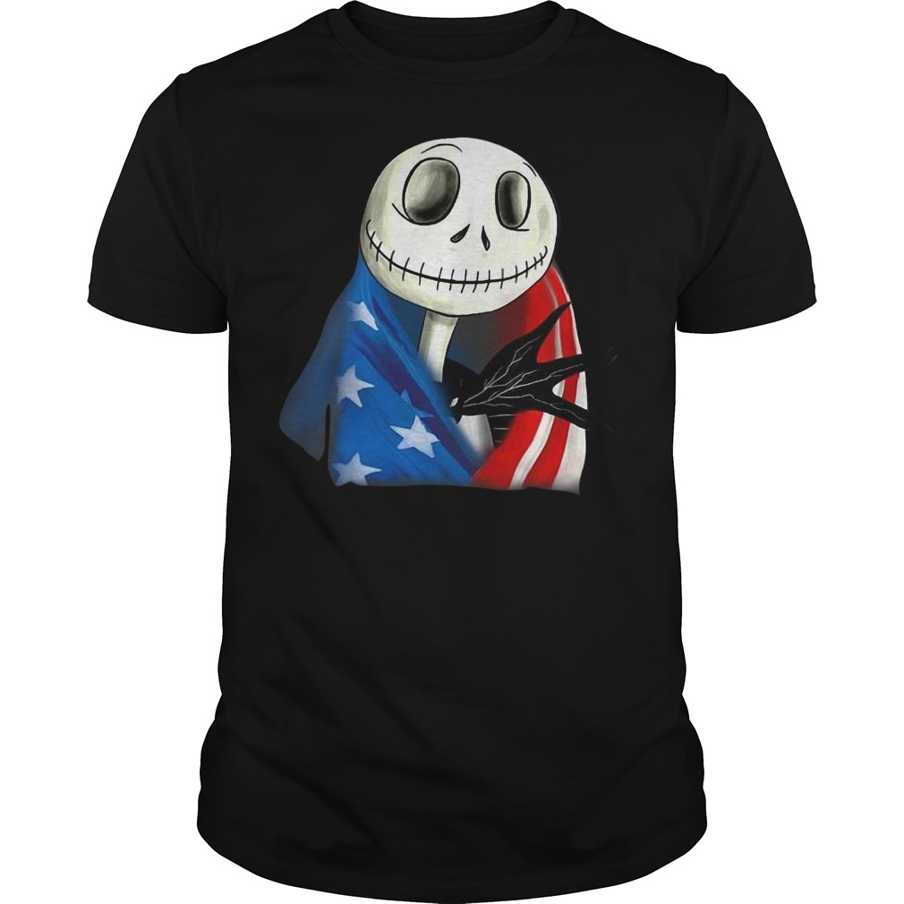 Jack skellington with American flag classic men