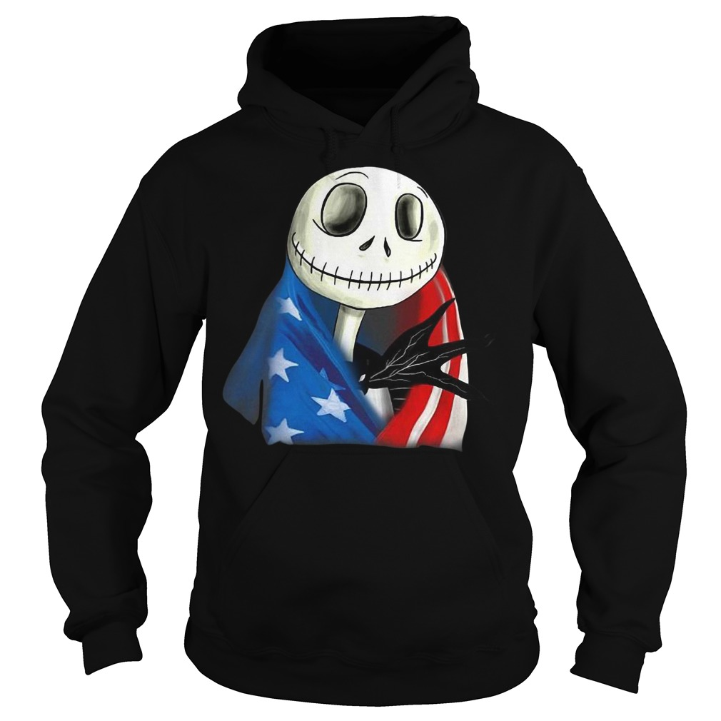 Jack skellington with American flag hoodie