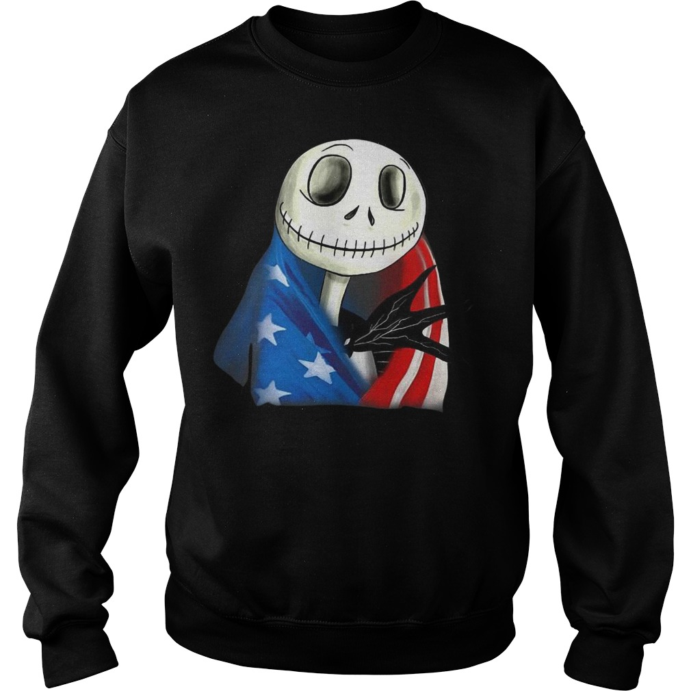Jack skellington with American flag sweater