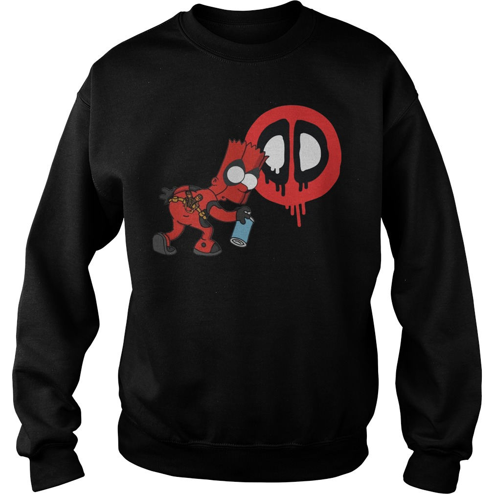 Bart Simpson Deadpool sweater