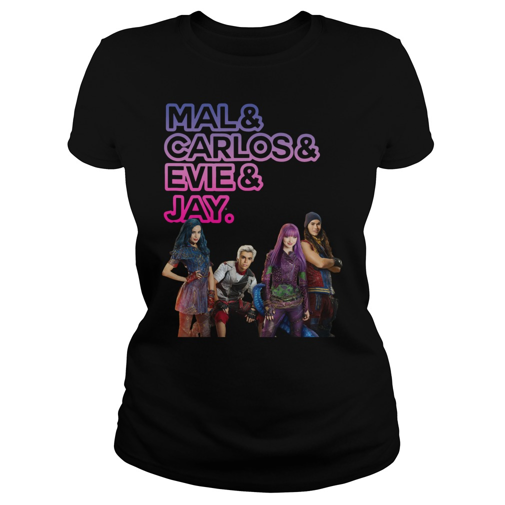 Mal and Carlos and Evie and Jay ladies tee