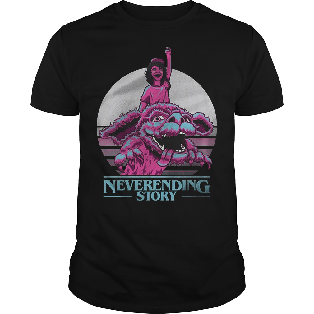 Neverending story Dustin Stranger Things guys tee