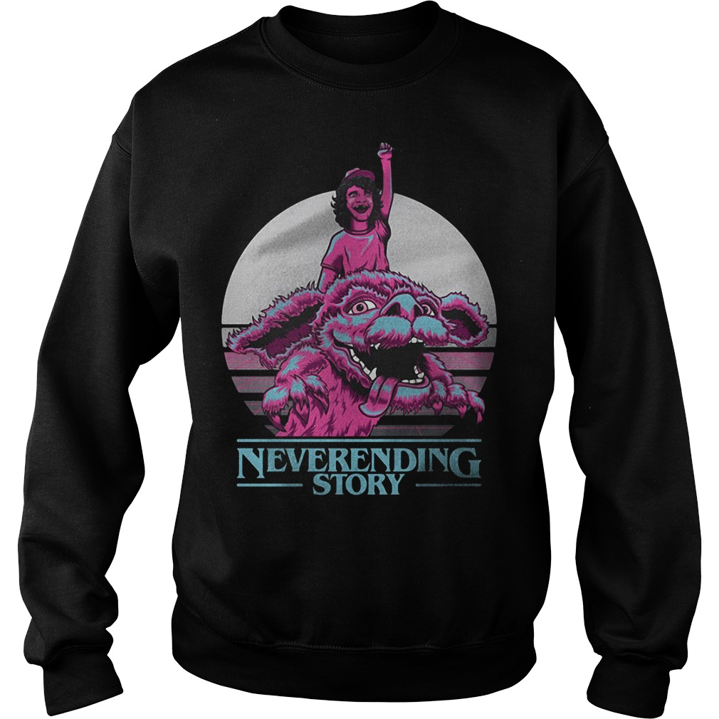 Neverending story Dustin Stranger Things sweater
