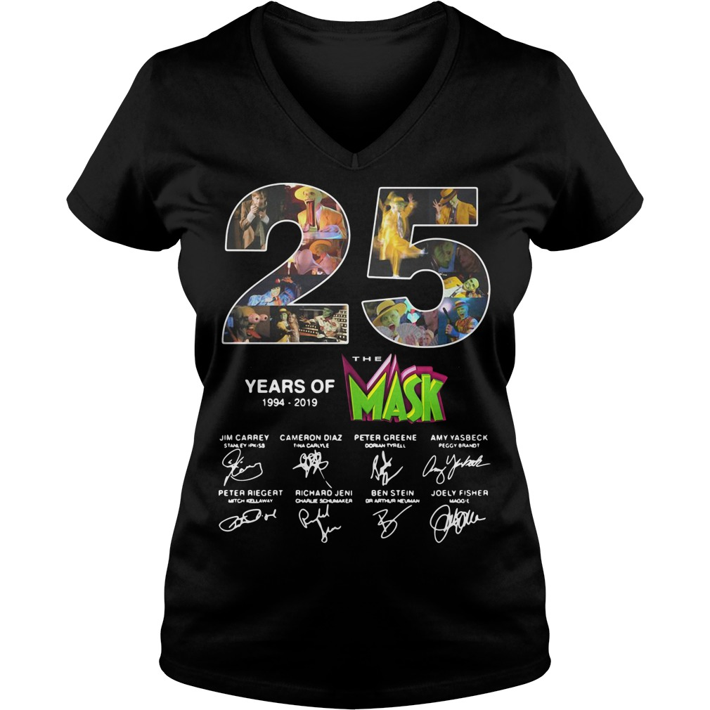 25 years of the Mask 1994 2019 signature V-neck