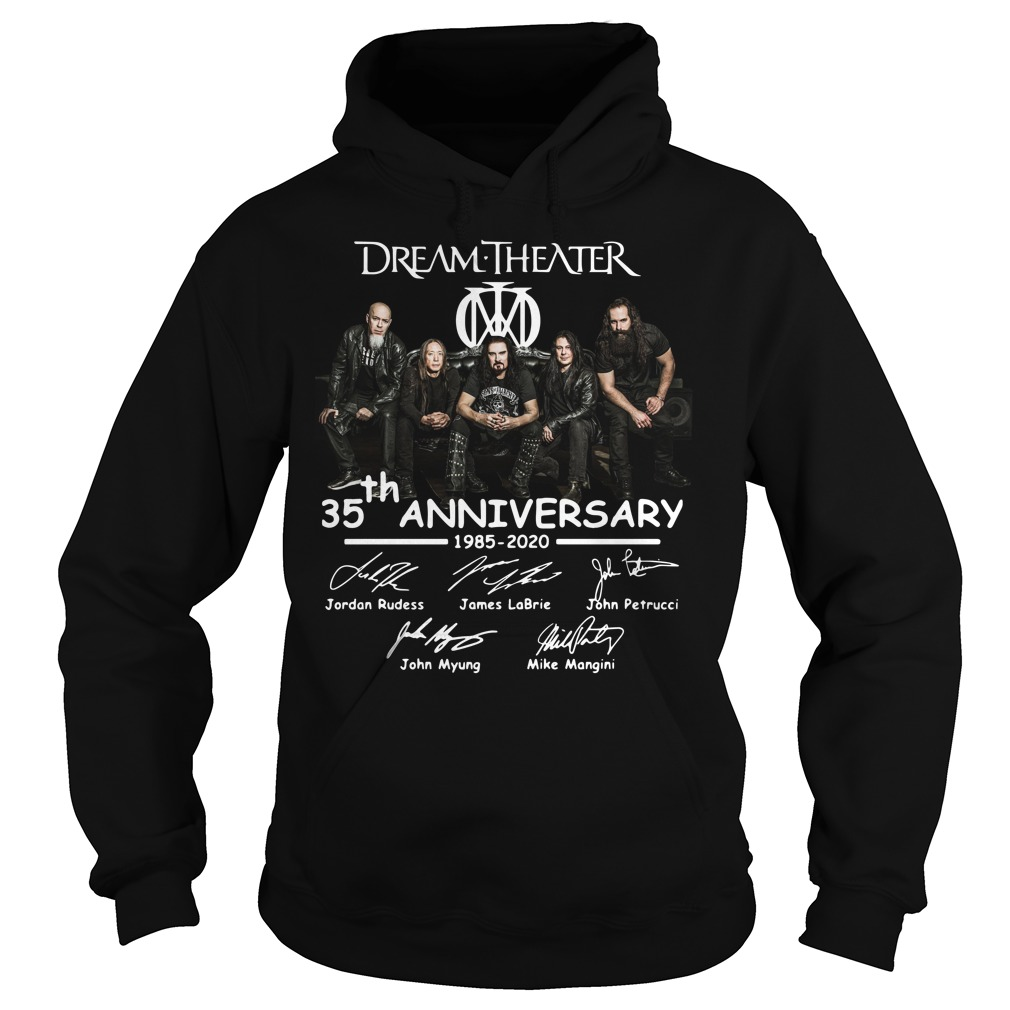 Dream Theater 35th Anniversary Signatures hoodie