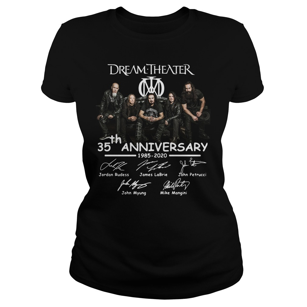 Dream Theater 35th Anniversary Signatures ladies tee