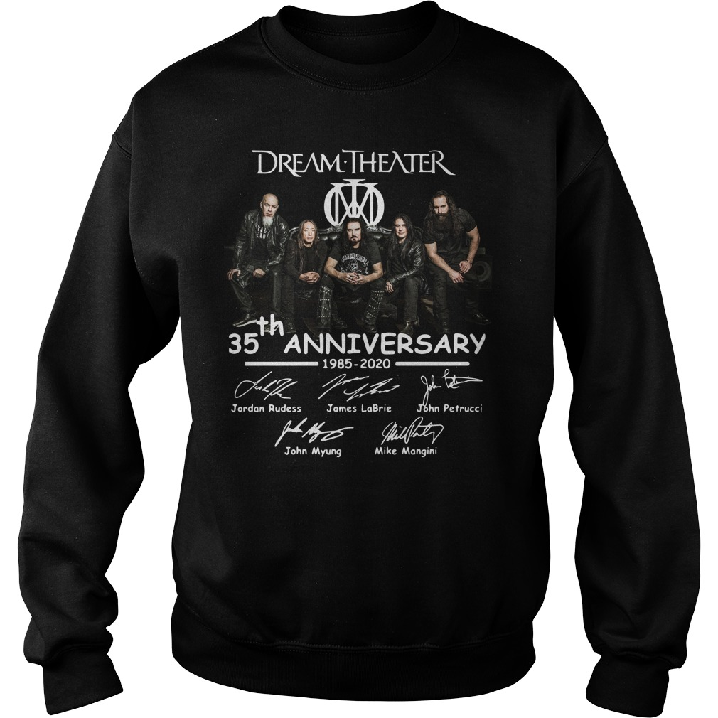 Dream Theater 35th Anniversary Signatures sweater