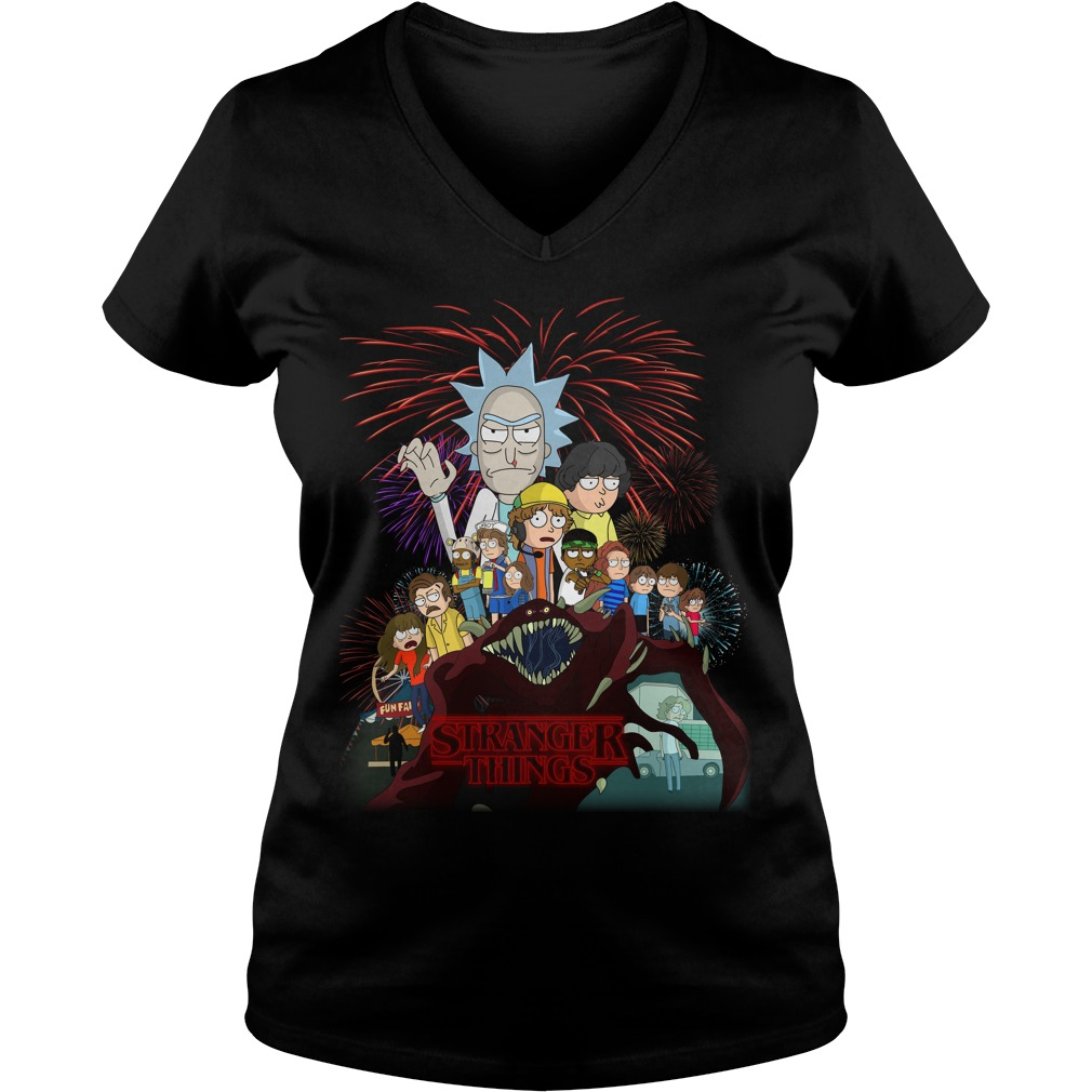 Rick and Morty Schwifty Things Stranger Things V-neck