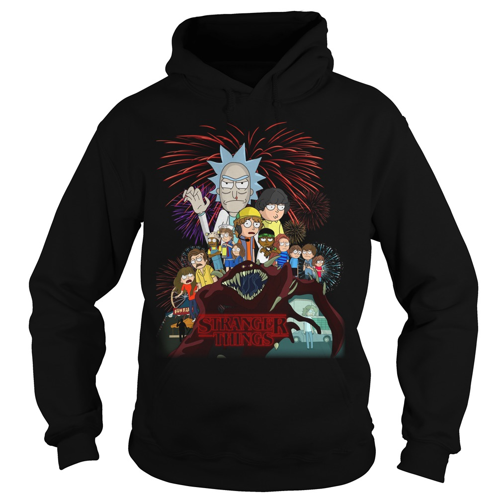 Rick and Morty Schwifty Things Stranger Things hoodie
