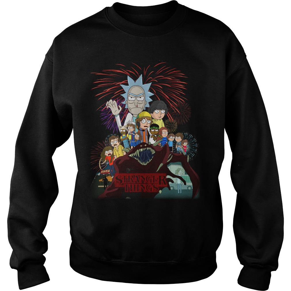 Rick and Morty Schwifty Things Stranger Things sweater