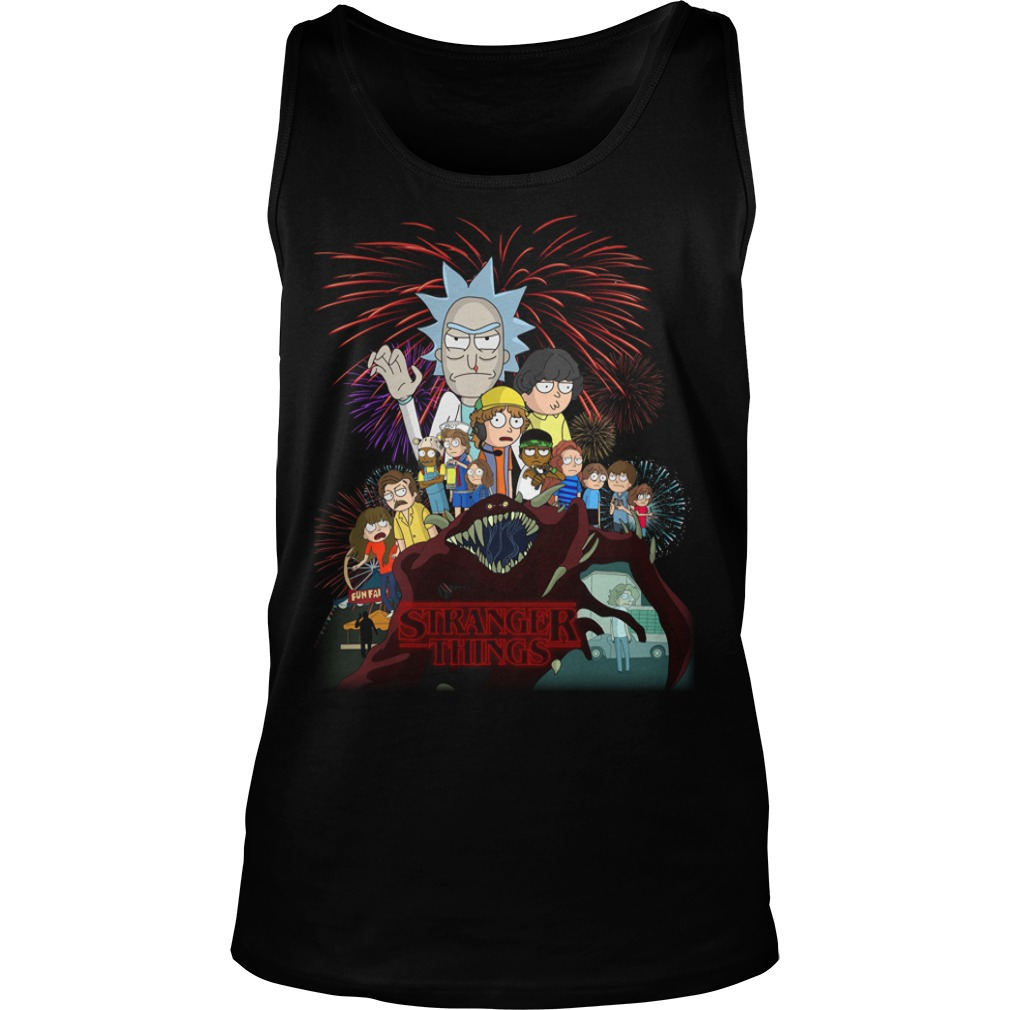 Rick and Morty Schwifty Things Stranger Things tank top