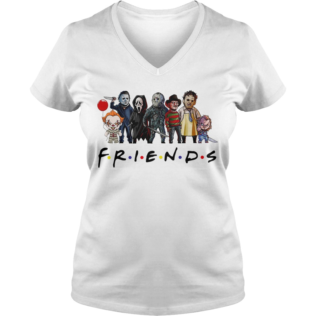 Friends Tv show Horror characters V-neck