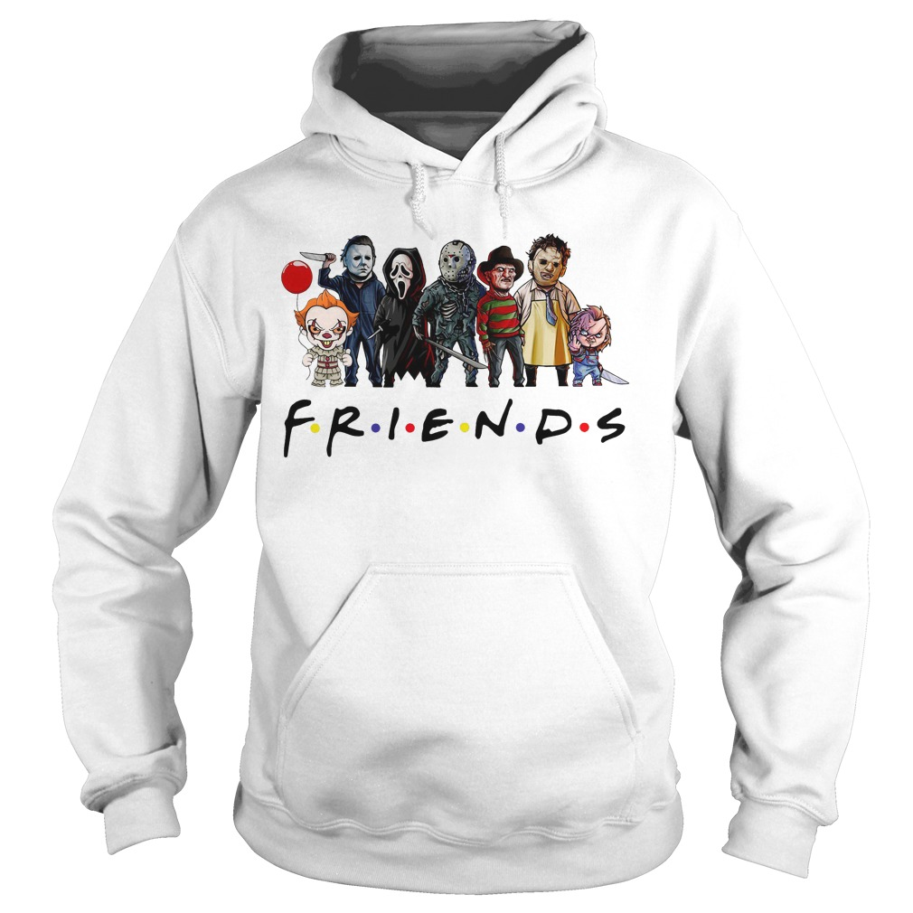 Friends Tv show Horror characters hoodie