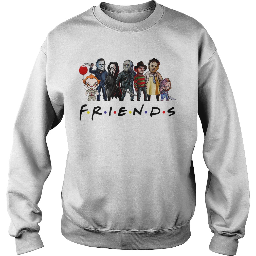 Friends Tv show Horror characters sweater