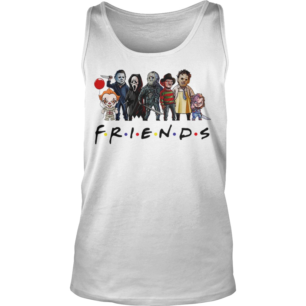 Friends Tv show Horror characters tank top