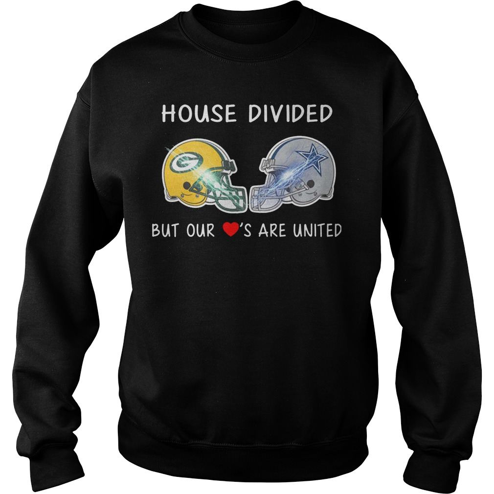 House divided Green Bay Packers and Dallas Cowboy but our loves are united sweater