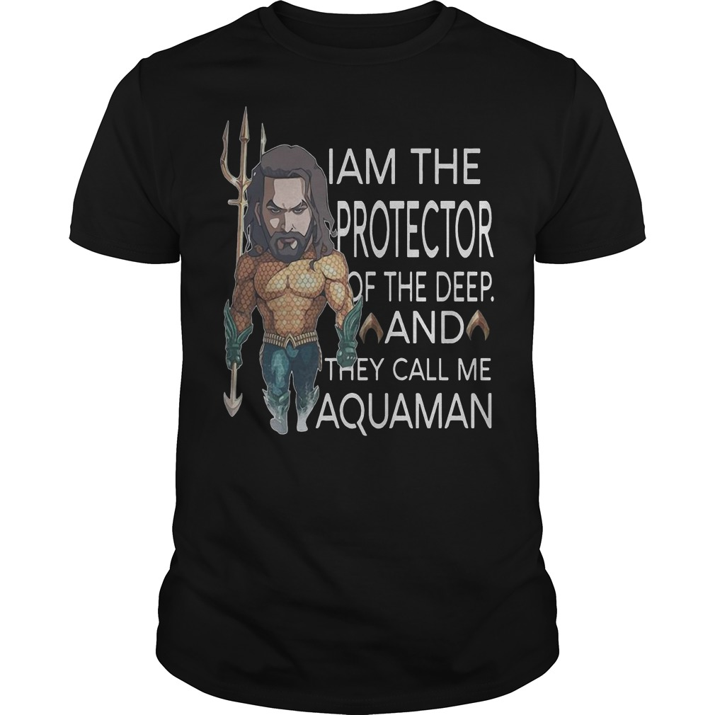 I am the protector of the deep and they call me Aquaman classic men