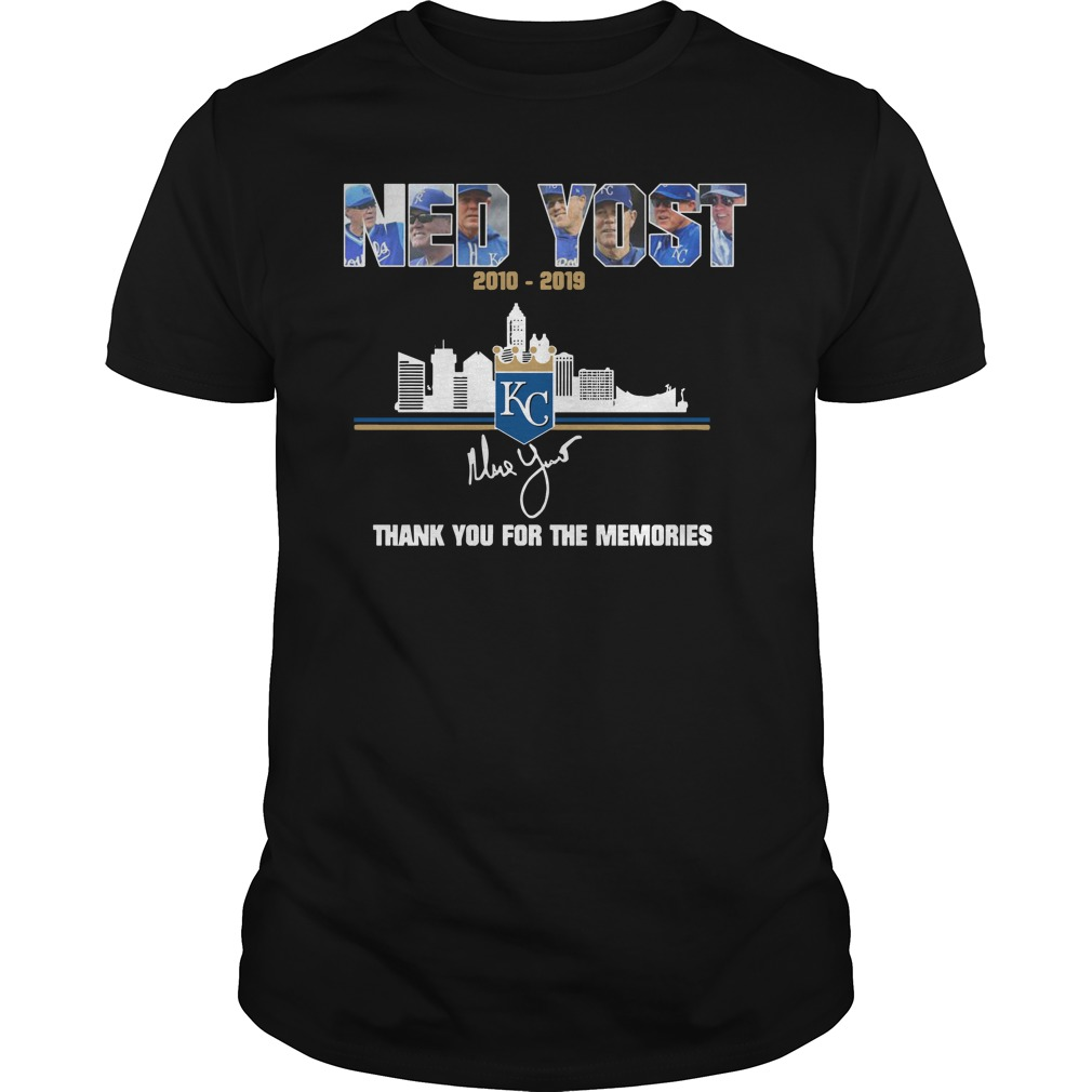 Kansas City Royals Ned Yost 2010 2019 thank you for the memories classic men