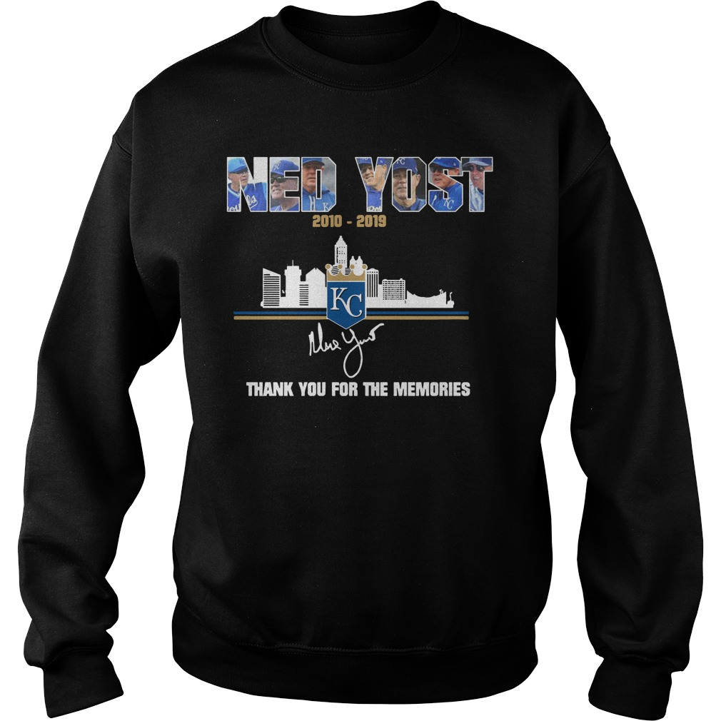 Kansas City Royals Ned Yost 2010 2019 thank you for the memories sweater