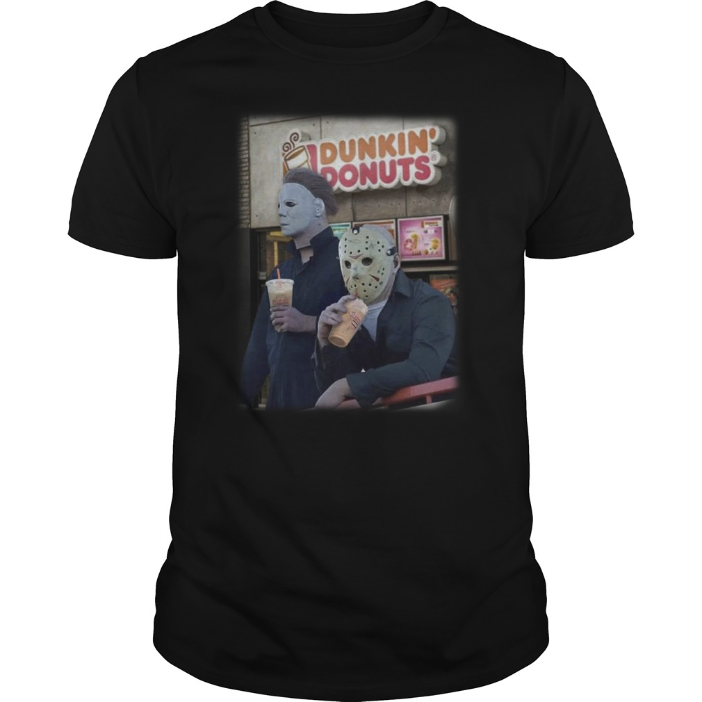 Michael Mayer and Jason Voorhees drink Dunkin Donuts classic men