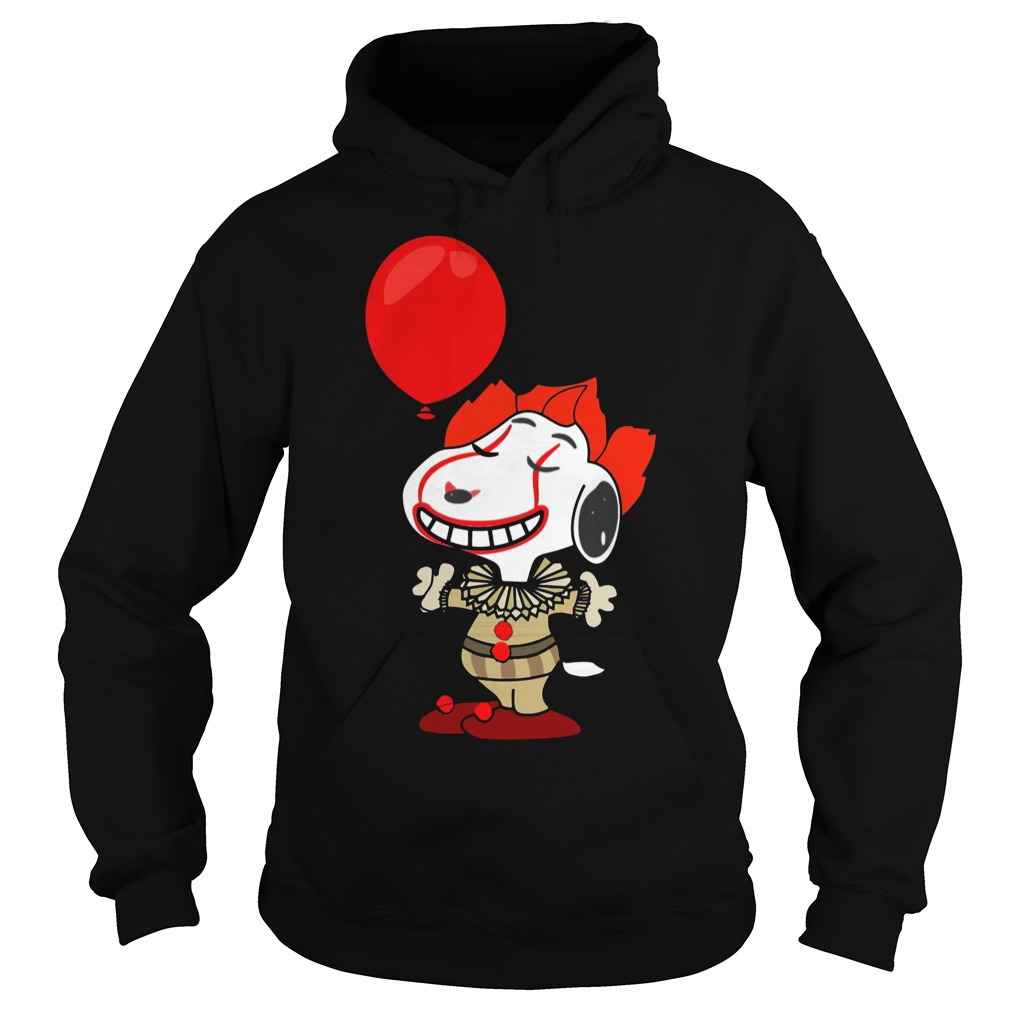 Snoopy Pennywise do you want a balloon hoodie