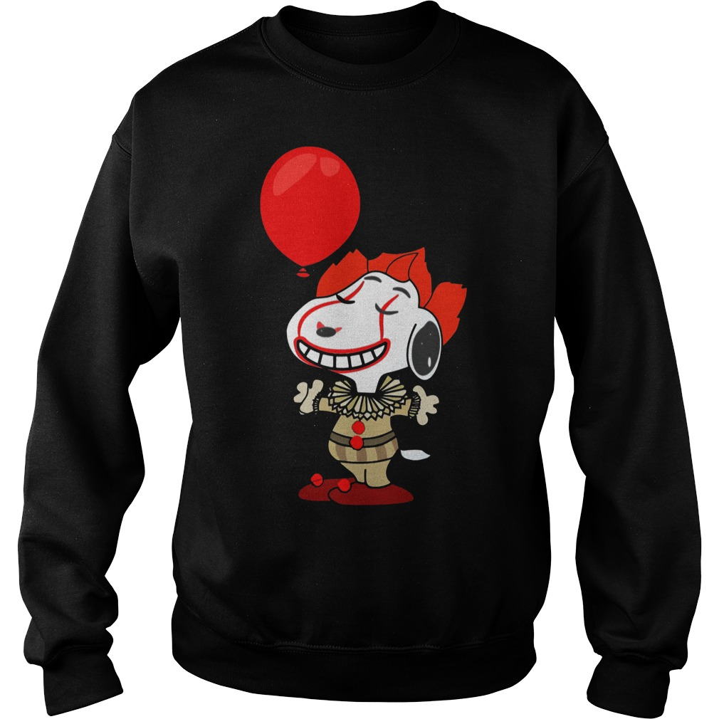 Snoopy Pennywise do you want a balloon sweater