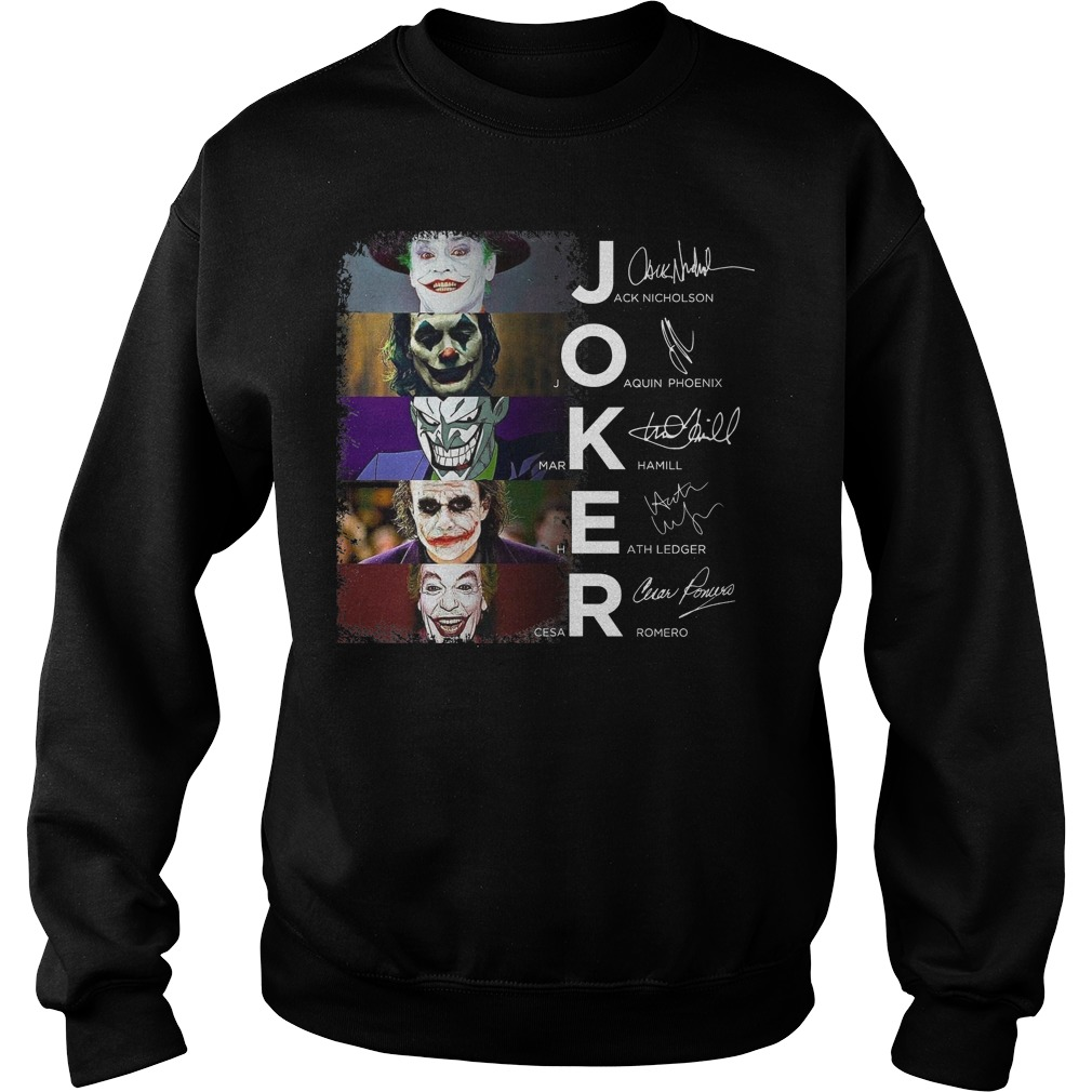 Joker all version signature sweater