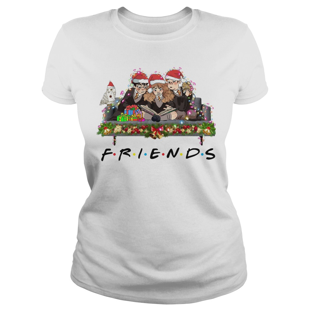 Merry Christmas Harry Potter Friends ladies tee