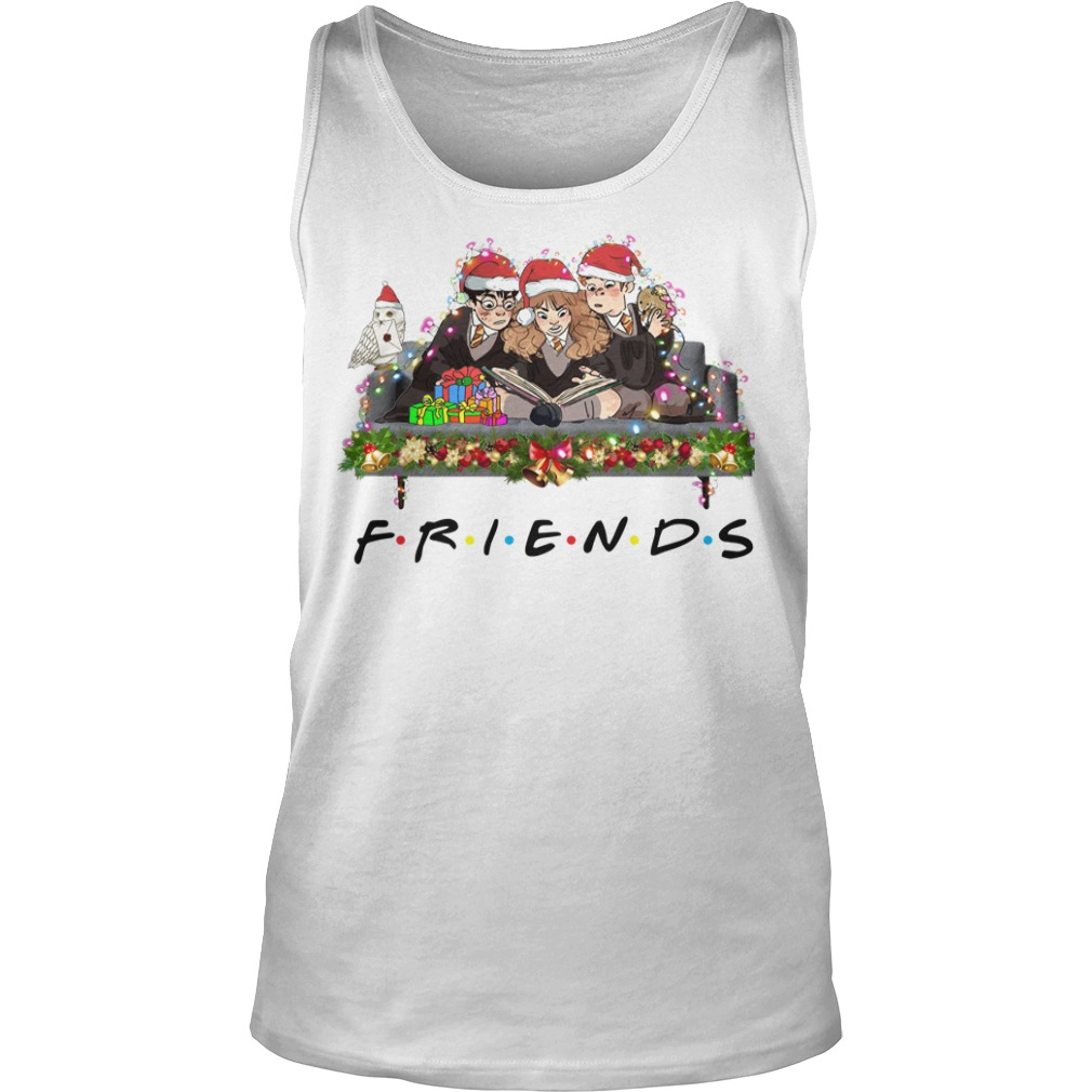 Merry Christmas Harry Potter Friends tank top