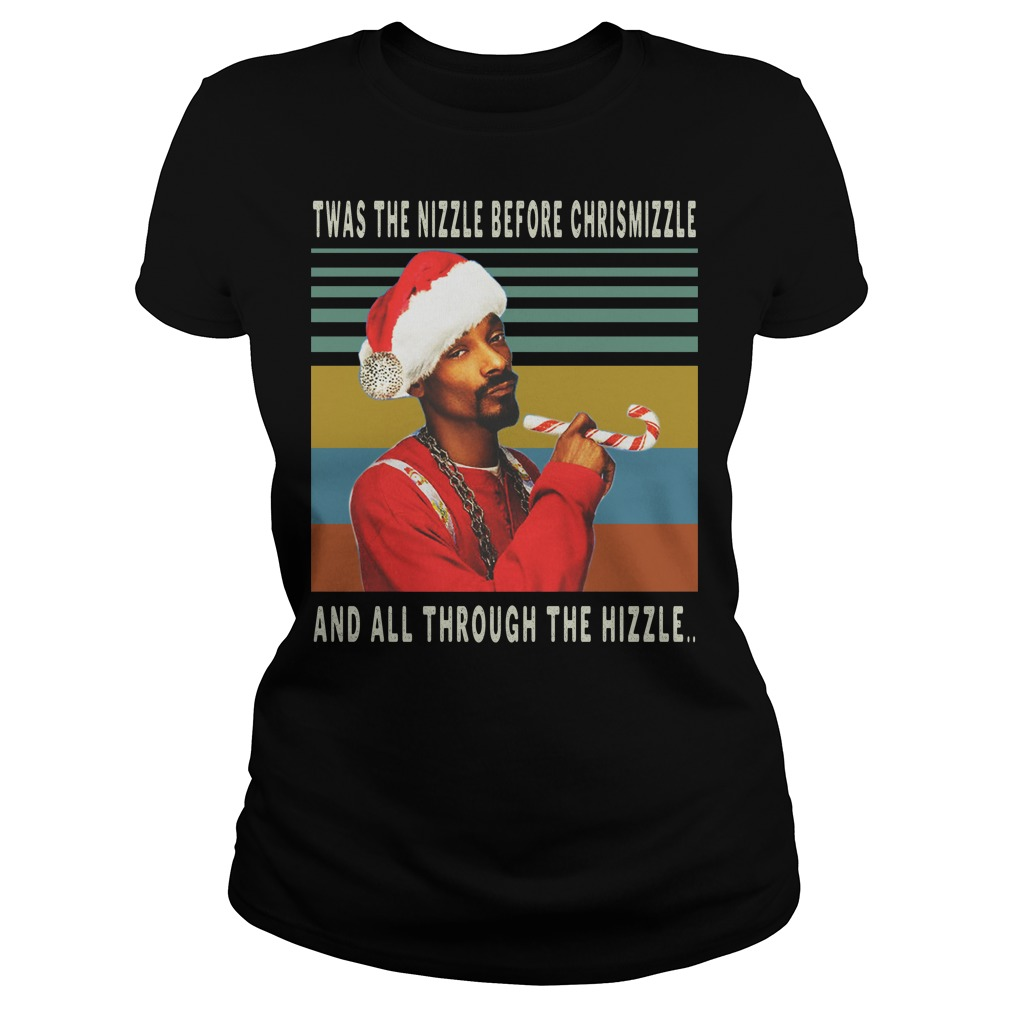 Twas the nizzle before christmizzle and all through the hizzle vintage ladies tee