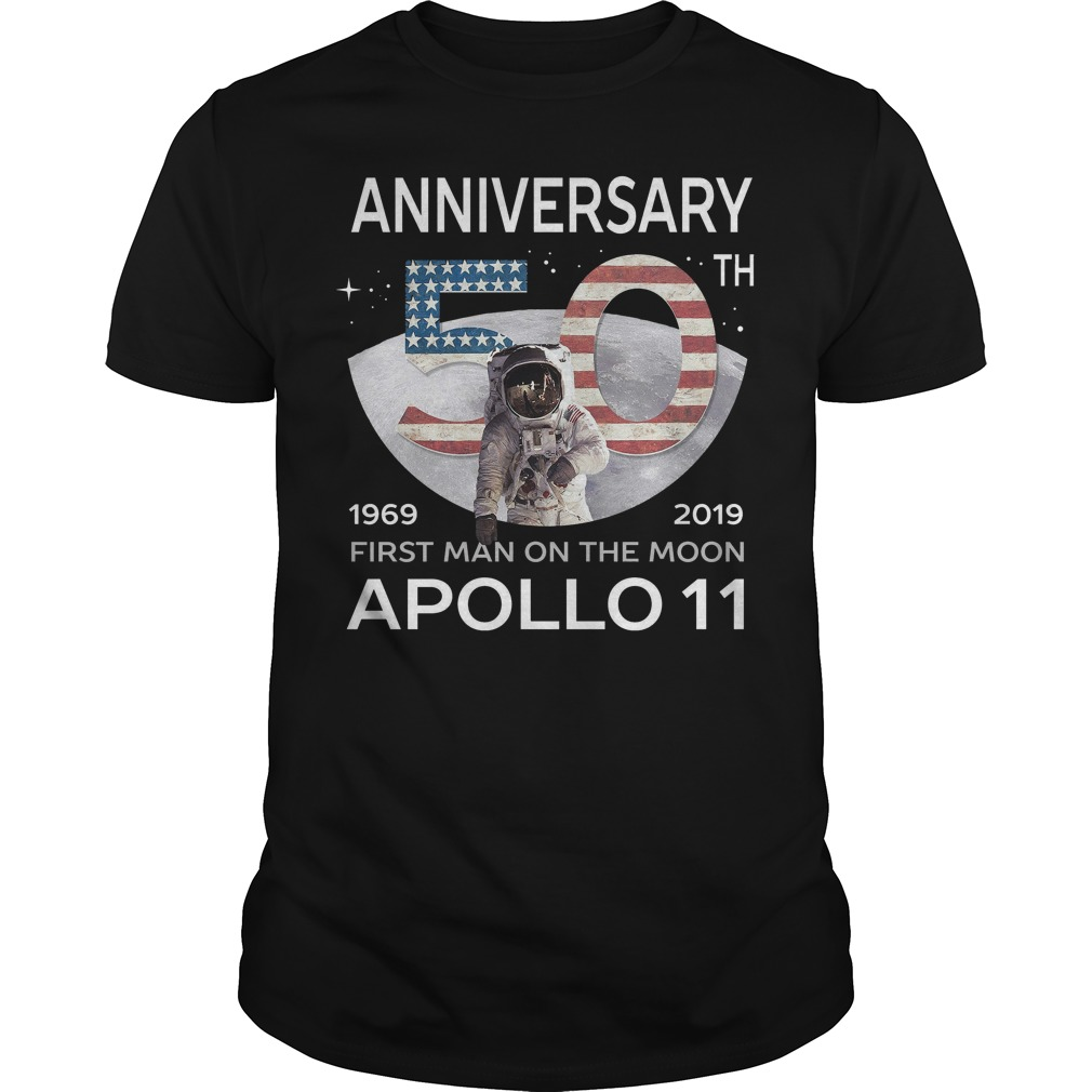 Anniversary 50th 1969 2019 first man on the moon Apollo 11 classic men