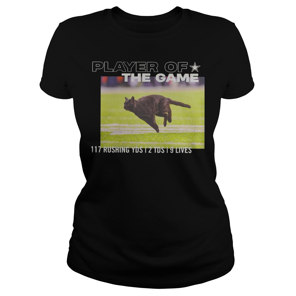 Dallas Cowboys Player Of The Game 117 Rushing YSD 2 TDS 9 Lives ladies tee